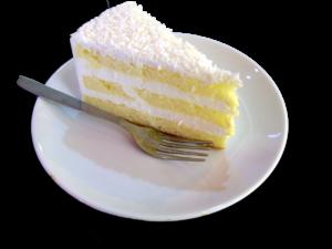 A slice of coconut cake by Tony Oxborrow